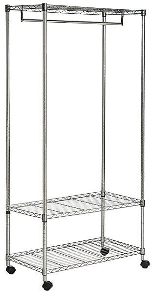 Safavieh Gordon Chrome Wire 3 Tier Garment Rack, , large
