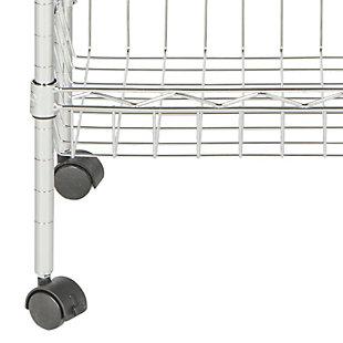 Safavieh Pierre Chrome Wire Adjustable Mini Trolley, , large