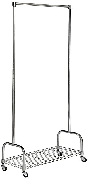Safavieh Christian Chrome Wire Single Rod Clothes Rack, , large
