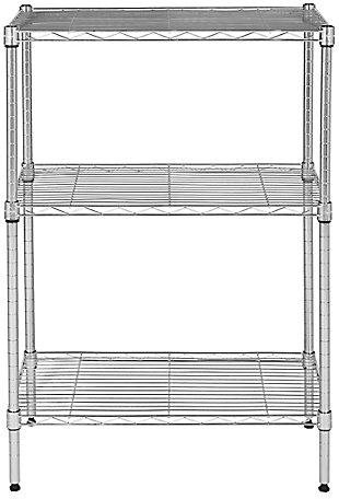Safavieh Sierra Mini 3 Tier Chrome Wire Shelve, Chrome, large
