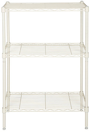 Safavieh Sierra Mini 3 Tier Chrome Wire Shelve, White, large