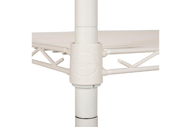 Safavieh Sierra Mini 3 Tier Chrome Wire Shelve, White, large