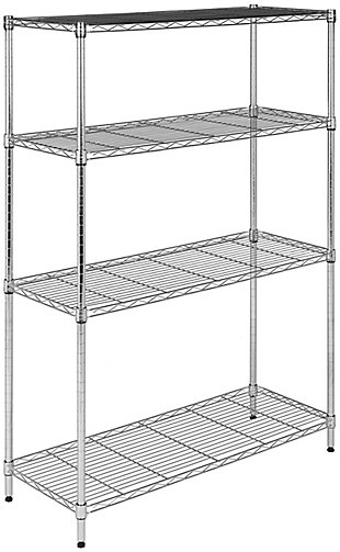 Safavieh Bravo 4 Tier Chrome Wire Shelve, , large