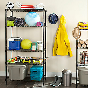 Safavieh Alpha 5 Tier Chrome Wire Shelving, , rollover