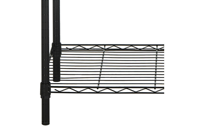 Safavieh Alpha 5 Tier Chrome Wire Shelving, , large