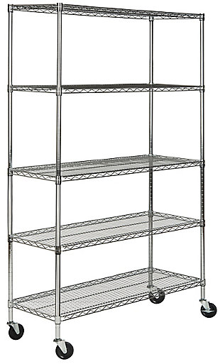 Safavieh Echo 5 Tier Heavy Duty Chrome Wire Shelve, , large