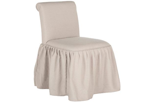 Safavieh Ivy Vanity Chair, Taupe, large