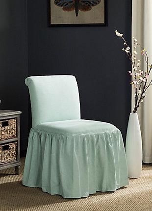 Safavieh Ivy Vanity Chair, Robins Egg Blue, large