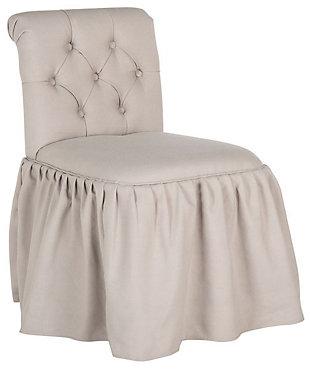 Safavieh Allie Vanity Chair, Taupe, large