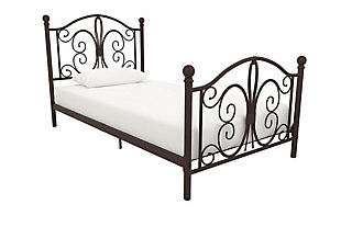 DHP Atwater Living Bradford Twin Metal Bed, Bronze, large