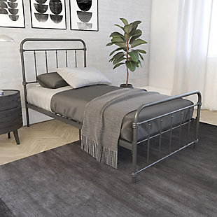DHP Atwater Living Wyn Twin Metal Black Bed, Black, rollover