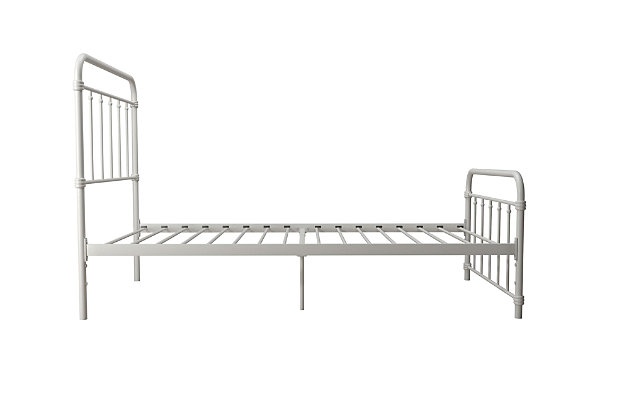 DHP Atwater Living Wyn Twin Metal White Bed, White, large