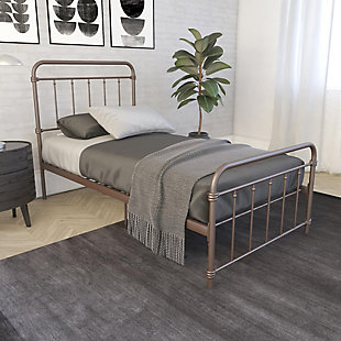 DHP Atwater Living Wyn Twin Metal Bronze Bed, Bronze, rollover