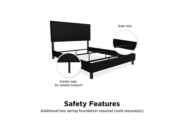 DHP Atwater Living Jazmine Full Upholstered Bed, Black, large