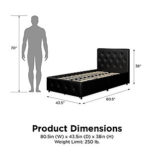 DHP Atwater Living Dana Twin Upholstered Bed with Storage, , large
