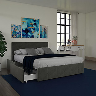 DHP Atwater Living Ryder Velvet Full Upholstered Bed with Storage, , rollover