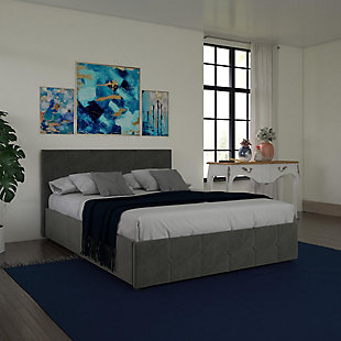 DHP Atwater Living Ryder Velvet Full Upholstered Bed with Storage, , large
