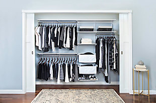 "Organized Living freedomRail® Premium Adjustable Closet Kit, 48""-52"", White, rollover"