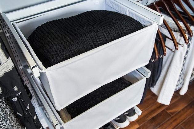 "Organized Living freedomRail® Premium Adjustable Closet Kit,  96""-100"", White, large"
