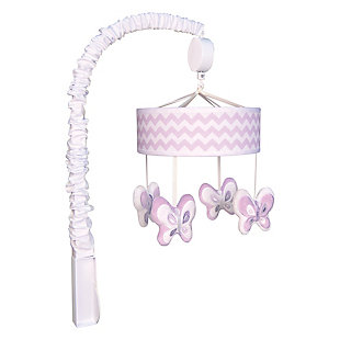 Trend Lab Orchid Bloom Chevron Musical Mobile, , rollover