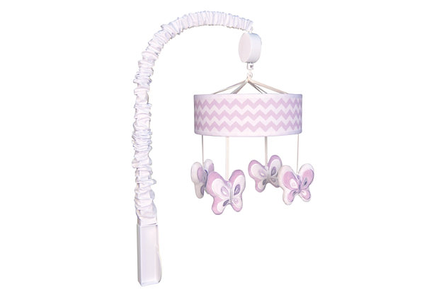 Trend Lab Orchid Bloom Chevron Musical Mobile, , large