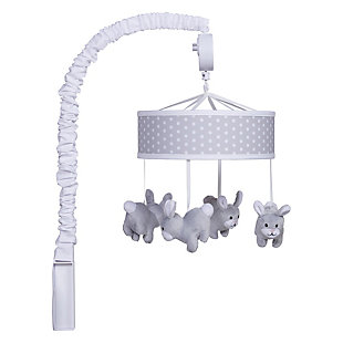Trend Lab Gray Bunny Musical Mobile, , large