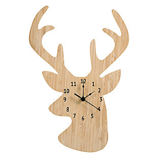 Trend Lab Bamboo Stag Head Wall Clock, , large