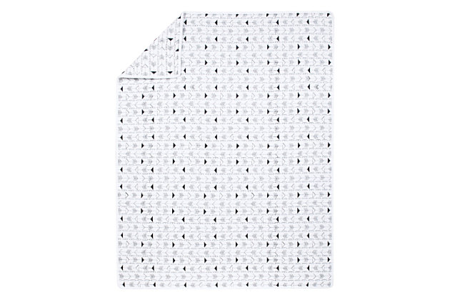 Trend Lab Black and White Arrows Quilt, , large