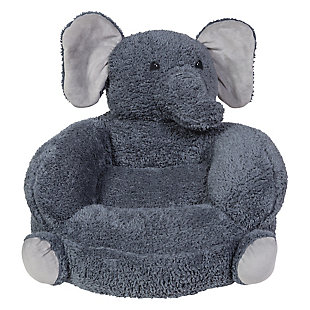 Trend Lab Children's Plush Elephant Character Chair, , large