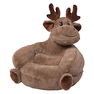 Trend Lab Children's Plush Moose Character Chair, , rollover