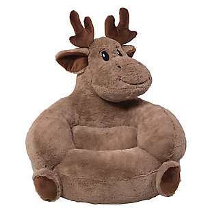 Trend Lab Children's Plush Moose Character Chair, , large