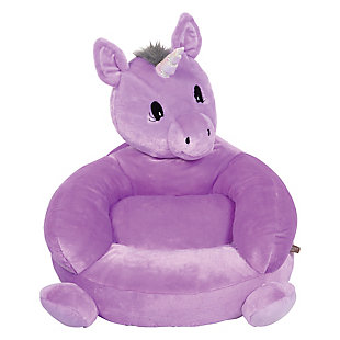 Trend Lab Children's Plush Unicorn Character Chair, , rollover