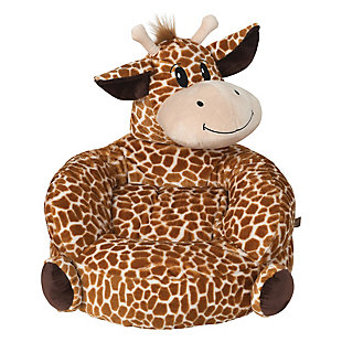 Trend Lab Children's Plush Giraffe Character Chair, , rollover