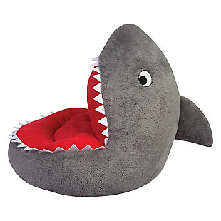Trend Lab Shark Plush Character Chair, , large