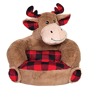 Trend Lab Children's Plush Buffalo Check Moose Character Chair, , rollover