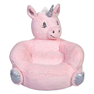 Trend Lab Pink Unicorn Plush Character Chair, , rollover