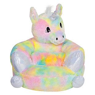Trend Lab Children's Plush Rainbow Unicorn Character Chair, , rollover