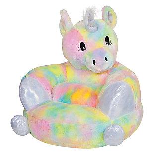 Trend Lab Children's Plush Rainbow Unicorn Character Chair, , large