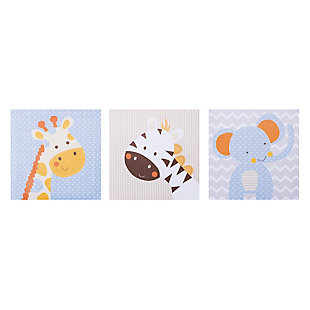 Trend Lab Jungle Fun Canvas Wall Art 3 Pack, , rollover