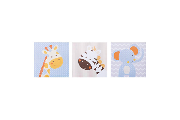 Trend Lab Jungle Fun Canvas Wall Art 3 Pack, , large