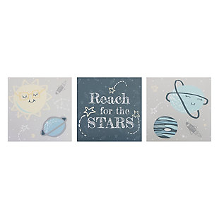 Trend Lab Happy Planets Canvas Wall Art 3 Pack, , rollover