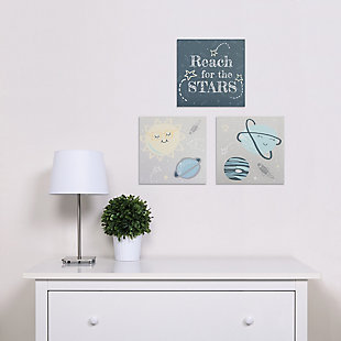 Trend Lab Happy Planets Canvas Wall Art 3 Pack, , large