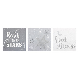 Trend Lab Moon and Stars Canvas Wall Art 3 Pack, , rollover