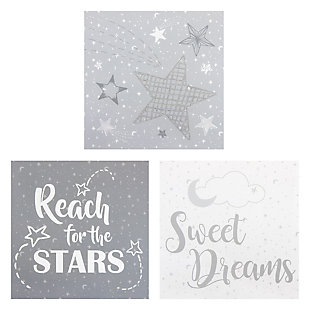 Trend Lab Moon and Stars Canvas Wall Art 3 Pack, , large