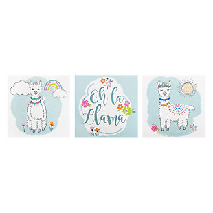 Trend Lab Oh La Llama Canvas Wall Art 3 Pack, , rollover