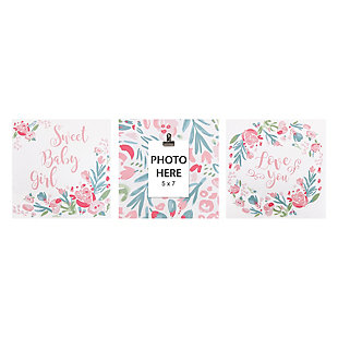 Trend Lab Painterly Floral Canvas Wall Art 3 Pack, , rollover