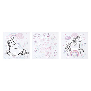 Trend Lab Magical Unicorn Canvas Wall Art 3 Pack, , rollover
