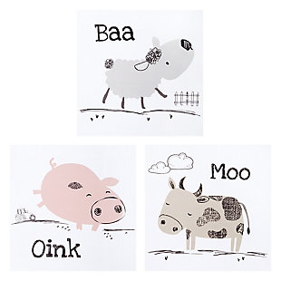 Trend Lab Farm Stack Canvas Wall Art 3 Pack, , large