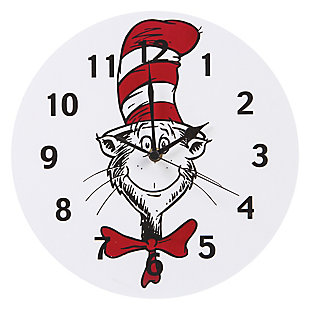 Trend Lab Cat in the Hat Circle Wall Clock, , large