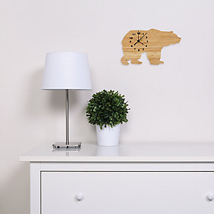 Trend Lab Bamboo Bear Wall Clock, , rollover